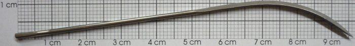 Nadeln, gebogen, fein, 10 cm (4″) /6 St.