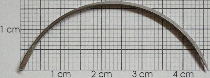 Nadeln, Drittelkreis, fein, 6 cm /6 St.