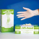 "Latex Untersuchungs-Handschuhe ""SOFT-HAND"", gep."