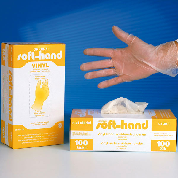 "Vinyl Handschuhe ""SOFT HAND"", pf."